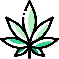 Its Hemp Logo Leaf Icon