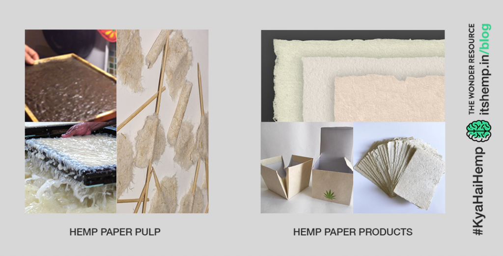 Hemp pulp and paper