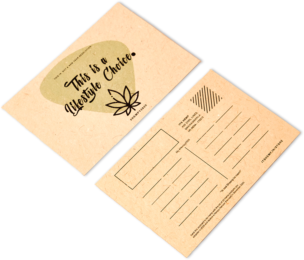 This is a Lifestyle Choice Hemp Paper Postcard on Its Hemp