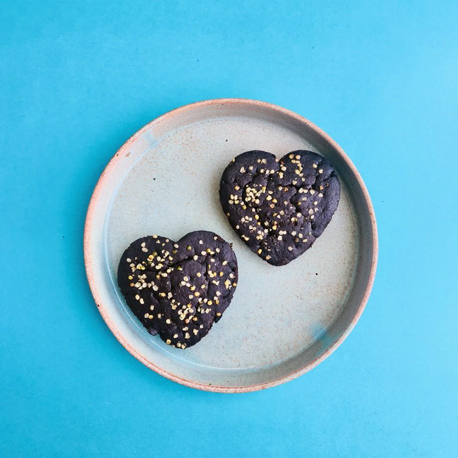 Heart Shaped Hemp Brownies by Its Hemp