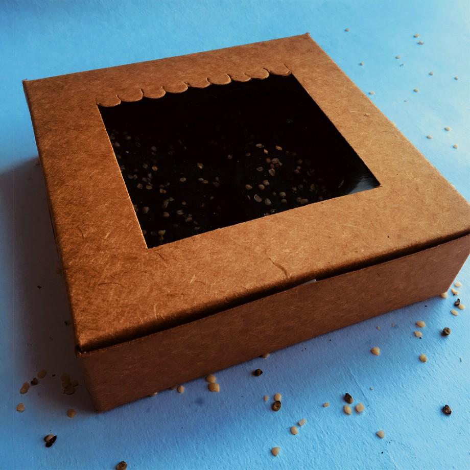 Heart Shaped Hemp Brownies by Its Hemp box closeup
