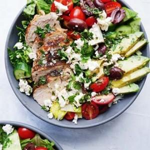 Chicken Salad with Hemp Hearts on Its Hemp