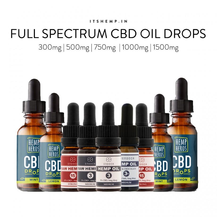 CBD Oil India Full Spectrum CBD Drops on Its Hemp