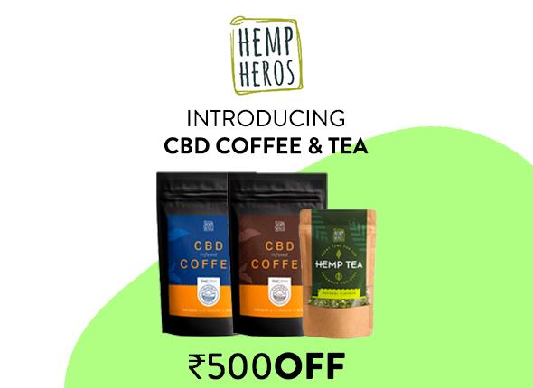 CBD Tea And Coffee on Its Hemp Mobile Banner